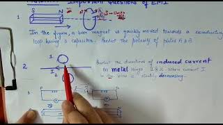 Class 12 Sure shot questions of physics Electromagnetic induction in CBSE boards