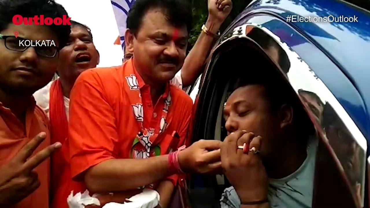Lok Sabha Election Results: BJP Workers Celebrate In Kolkata