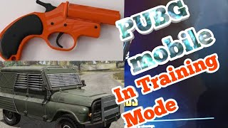 Pubg mobile flare gun and night vision in training mode || Armored car in training mode
