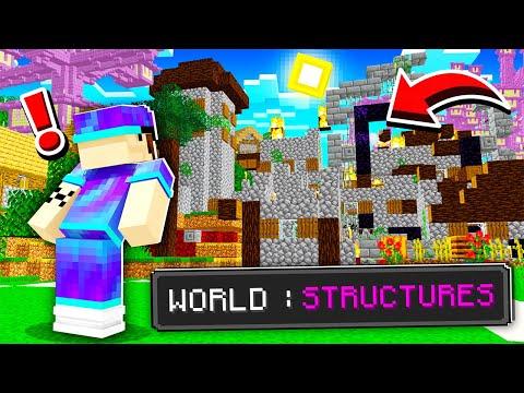 Minecraft MAIS le monde est rempli de structures ! (c'est cheaté !)
