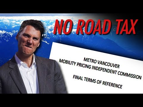 Stop Road Taxes in Metro Vancouver!