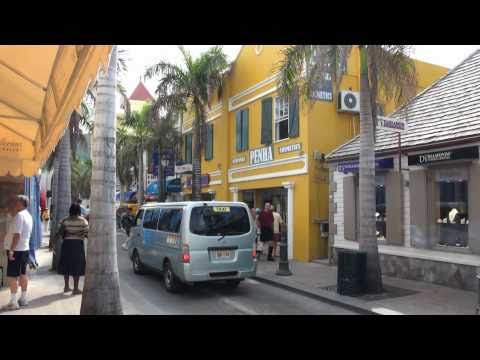 Downtown Philipsburg, Sint Maarten - in details [HD]