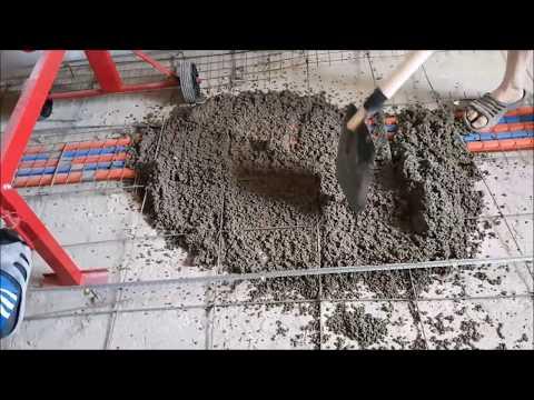 как залить керамзит цементом