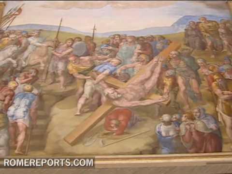 Vatican restores Michelangelos last frescoes