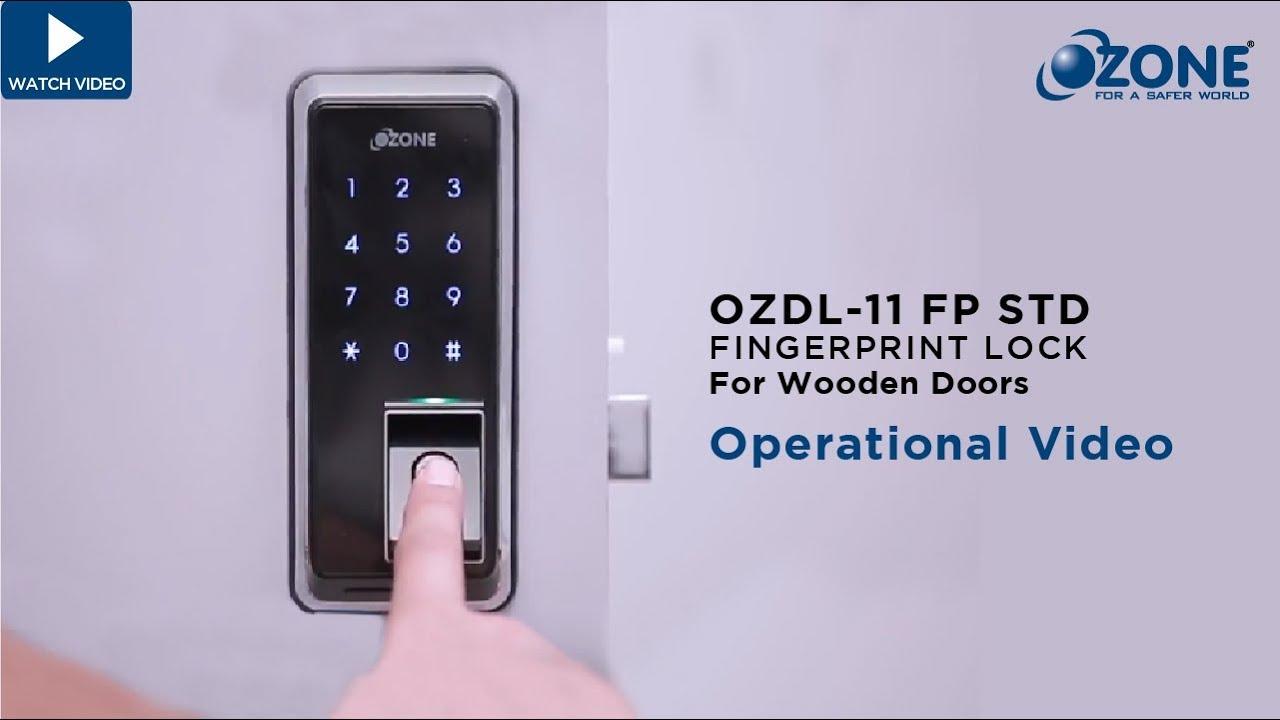 Ozone Fingerprint Door Lock Operating Video