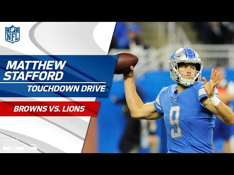 Matthew Stafford Puts Together Clutch TD Drive to Tie the Game! | Browns vs. Lions | NFL Wk 10
