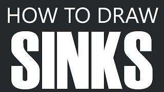 How To Draw A Sink - Granite Kitchen Sink Drawing (Kitchen & Bathroom Sinks)