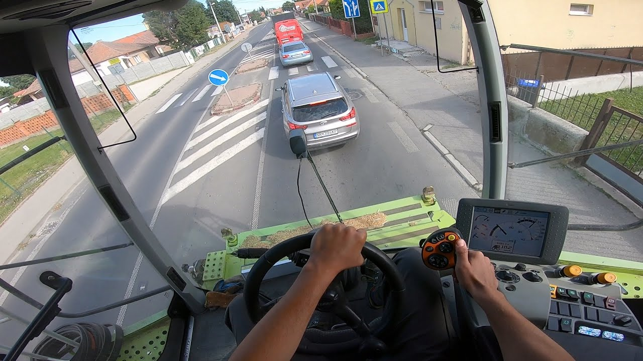 Download POV/Gopro Presun Claas Lexion 670 cez mesto Nitra