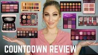 NEW EYESHADOW PALETTES │COUNTDOWN REVIEW