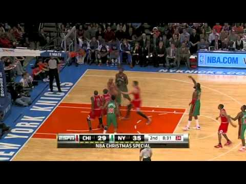 Landry Fields no look putback lay up a Ronny Turiaf miss free throw and one vs Chicago Bulls
