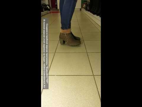 Замшевые зимние ботинки на устойчивом каблуке