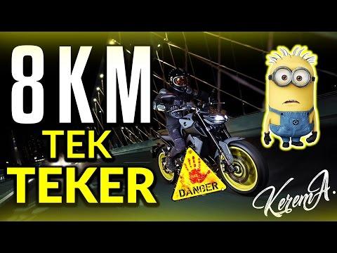 8 Km Tek Teker / Yamaha Mt-09 Wheelie // Tekirdağ Uçmakdere Gazlaması