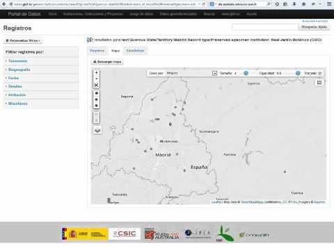 Funcionalidades del portal nacional de datos de GBIF.ES: busqueda avanzada