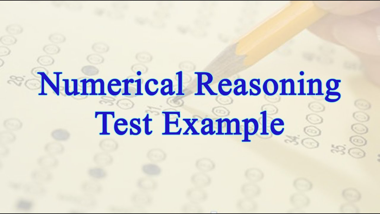 Numerical Reasoning Test Example With Questions and Answers ...