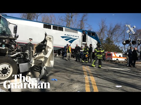Train carrying US Republican lawmakers slams into truck