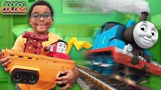 Goo Goo Gaga, Where Is Thomas The Train? (Hide and Seek Game with Goo Goo Colors)