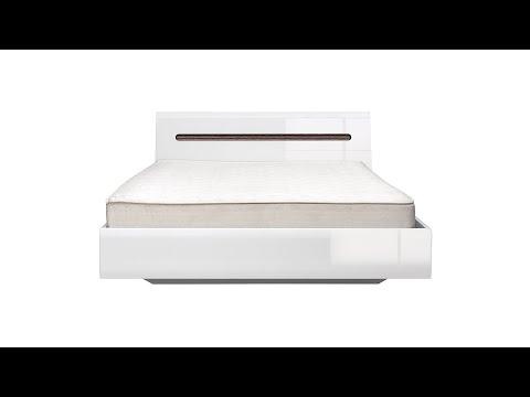 Кровать LOZ160x200 цвета белый