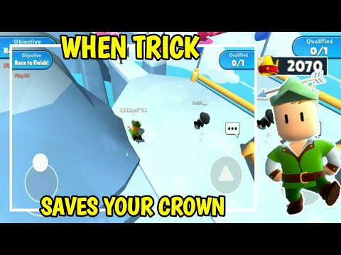 When trick saves your Crown 😅😁❤. Winning 2070 crowns Stumble Guys | Blaezi Playz |