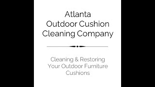 We love cleaning outdoor patio cushions!