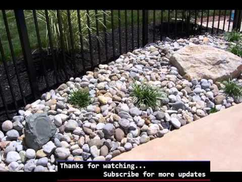 landscaping rocks around pool landscaping picture ideas youtube