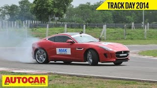 Autocar Trackday 2014 With Narain Karthikeyan | Jaguar F-Type R Coupé | Autocar India