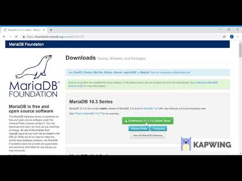 MariaDB-Features, download and installation