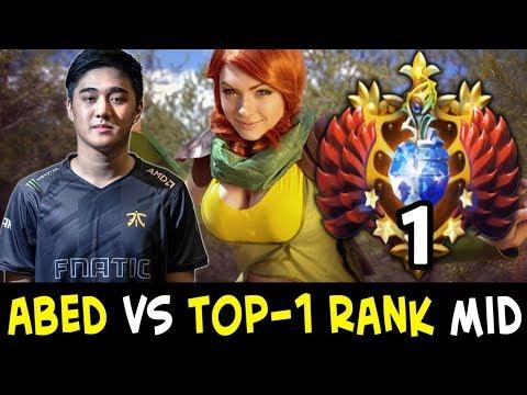 Abed vs TOP-1 RANK on mid — Windranger vs w33 Skywrath Mage
