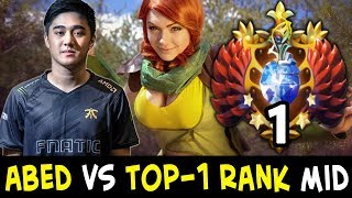 abed vs top 1 rank on mid — windranger vs w33 skywrath mage