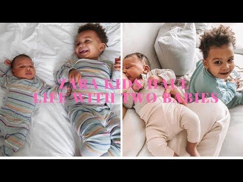 Week Vlog With 2 Babies Under 2  +  Zara Kids Haul