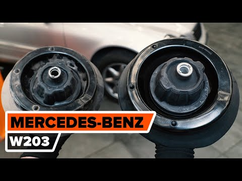 How to changefront strut mount onMERCEDES-BENZ W203 C-Class [TUTORIAL AUTODOC]