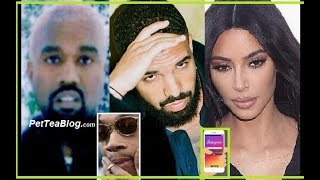 Kanye West Finds Out Drake Followed Kim Kardashian Today (Mentions Going too far with Wiz Khalifa)