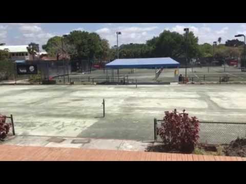2017 Sarasota Open New Centre Court Under Construction