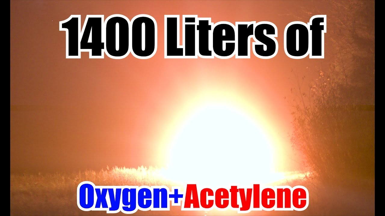 Weather Balloon Filled with Oxygen and Acetylene | HUGE EXPLOSION!! - Weather Balloon Filled with Oxygen and Acetylene | HUGE EXPLOSION!!