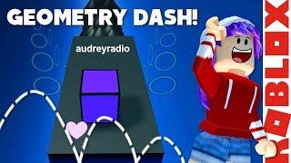 GEOMETRY DASH IN ROBLOX! | RADIOJH GAMES