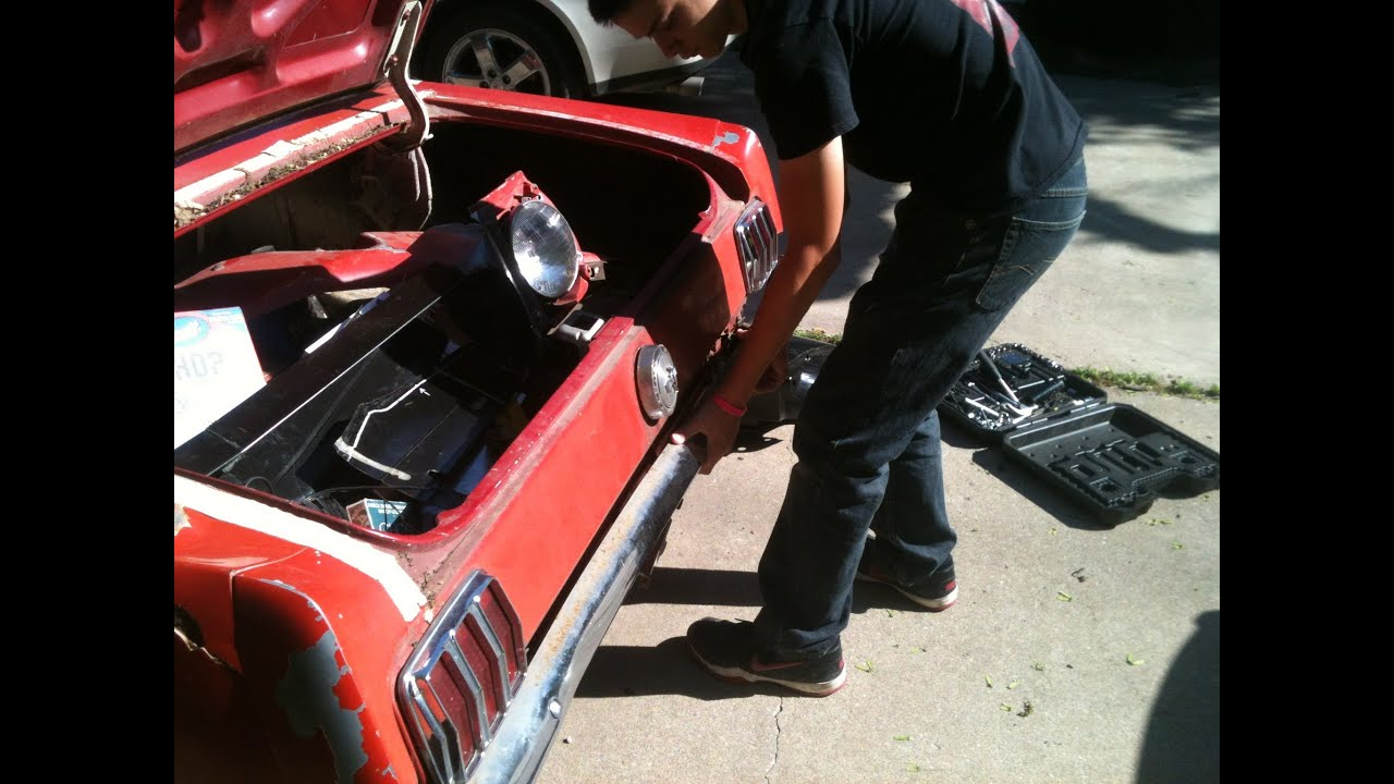 Diy how to replace a quarter panel on a 1966 mustang part 1 youtube