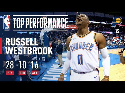Russell Westbrook Records 81st Career Triple-Double l October 25, 2017