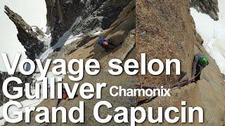 Voyage selon Gulliver Grand Capucin escalade alpinisme base jump Chamonix Mont-Blanc - 11265