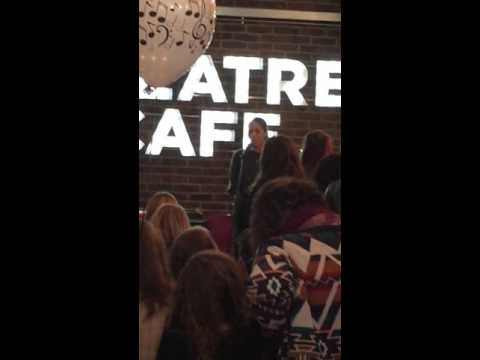 Eva Noblezada singing Reflection  The Theatre Cafe's 1st Birthday