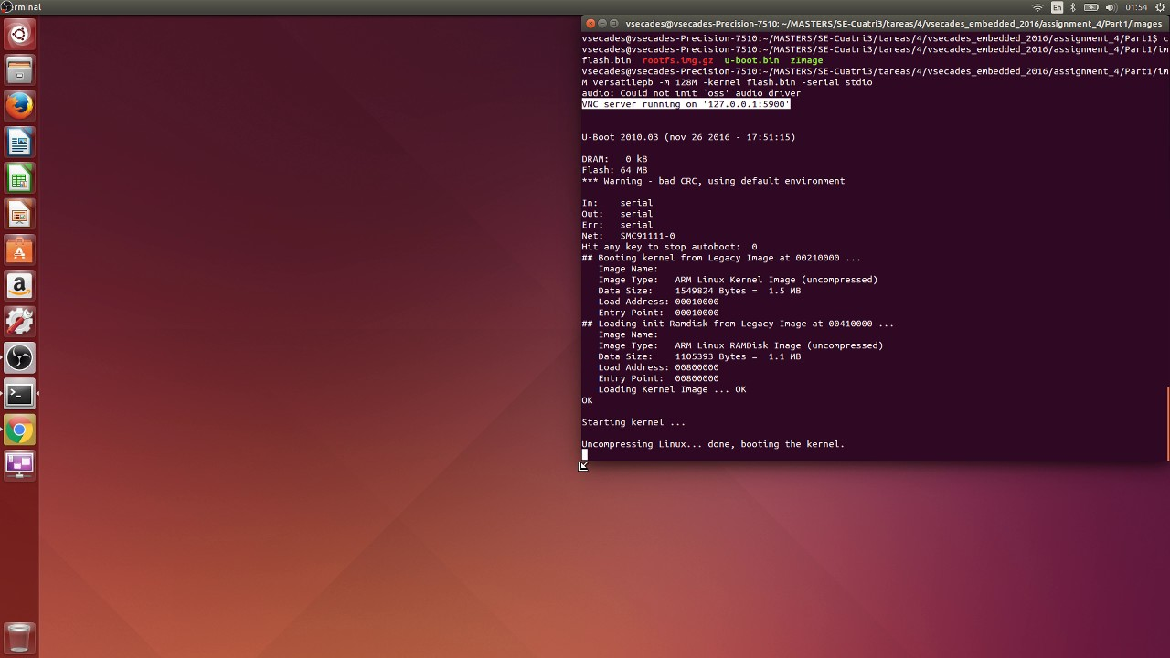 QEMU sample with u-boot, busybox and custom compiled Linux kernel on  VersatilePb