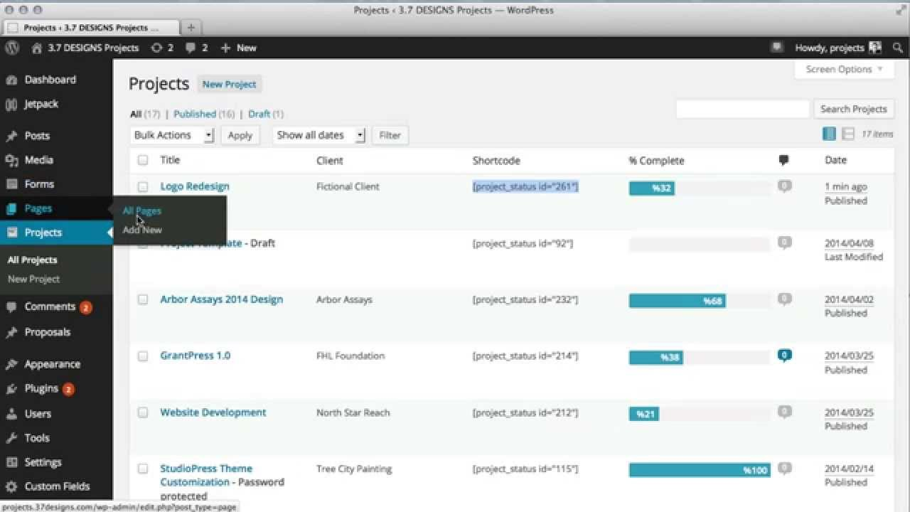WordPress Project Management Plugin Demo - Project Panorama - YouTube