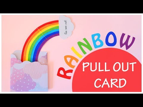 DIY | You Are My Rainbow | Rainbow Pull Out Card Tutorial | Explosion Box Scrapbook Idea