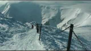 Karpacz, Śnieżka 1602 m n.p.m. zima - KORONA GÓR POLSKI - Karkonosze