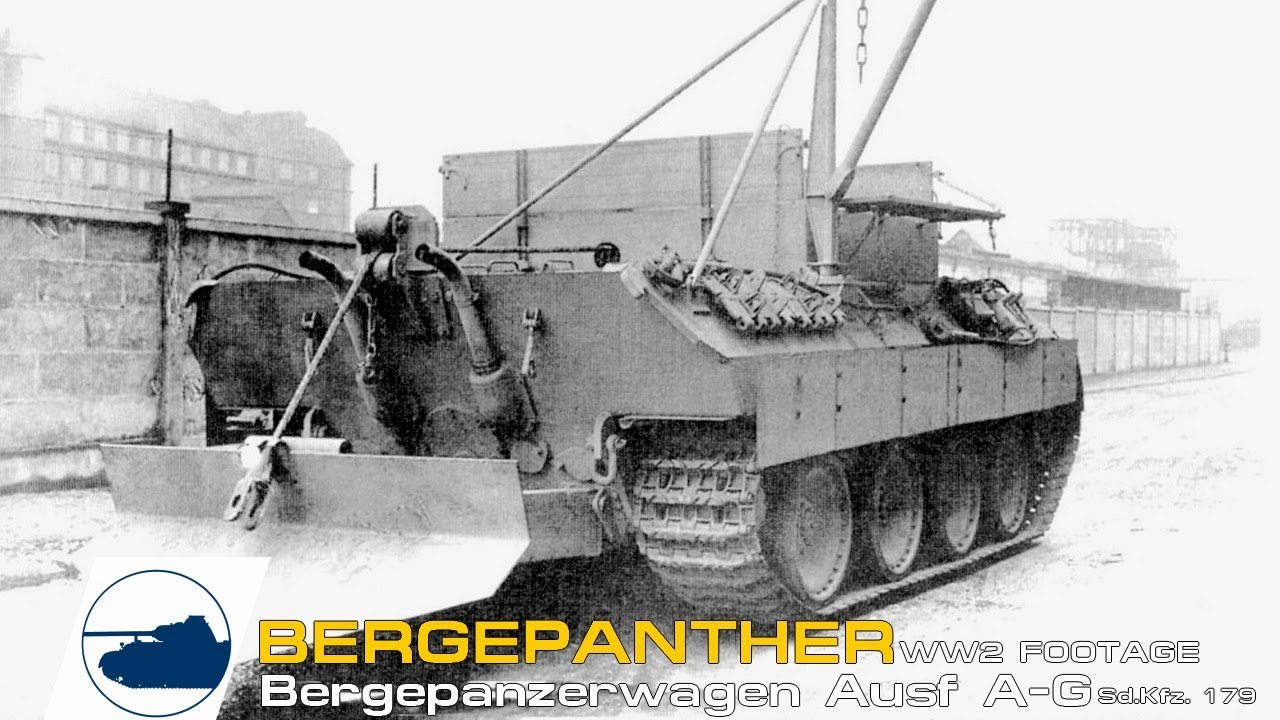 Rare Bergepanther footage - Ausf A - G Sd.Kfz. 179.