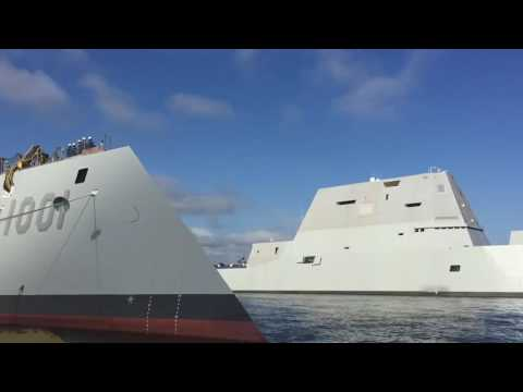 US Navy's newest and most technologically advanced surface ship, USS Zumwalt (DDG 1000)