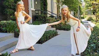 Colección de videos donde Super Polina va a la fiesta con vestido de princesa.