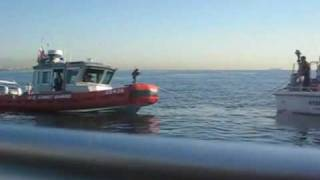 Coast Guard Patrol Boat  - Auxiliary Training with Station LA