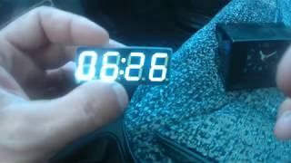 переделка штатных часов ваз 2110-12 (Вольтметр, часы, термометр) с Алиэкспресс