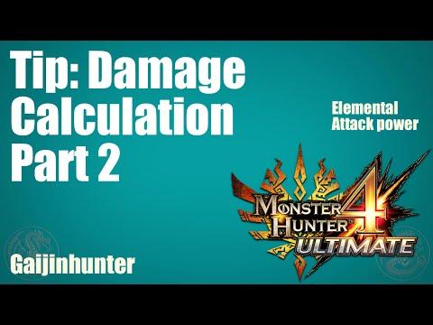 MH4U: How Elemental Damage Works