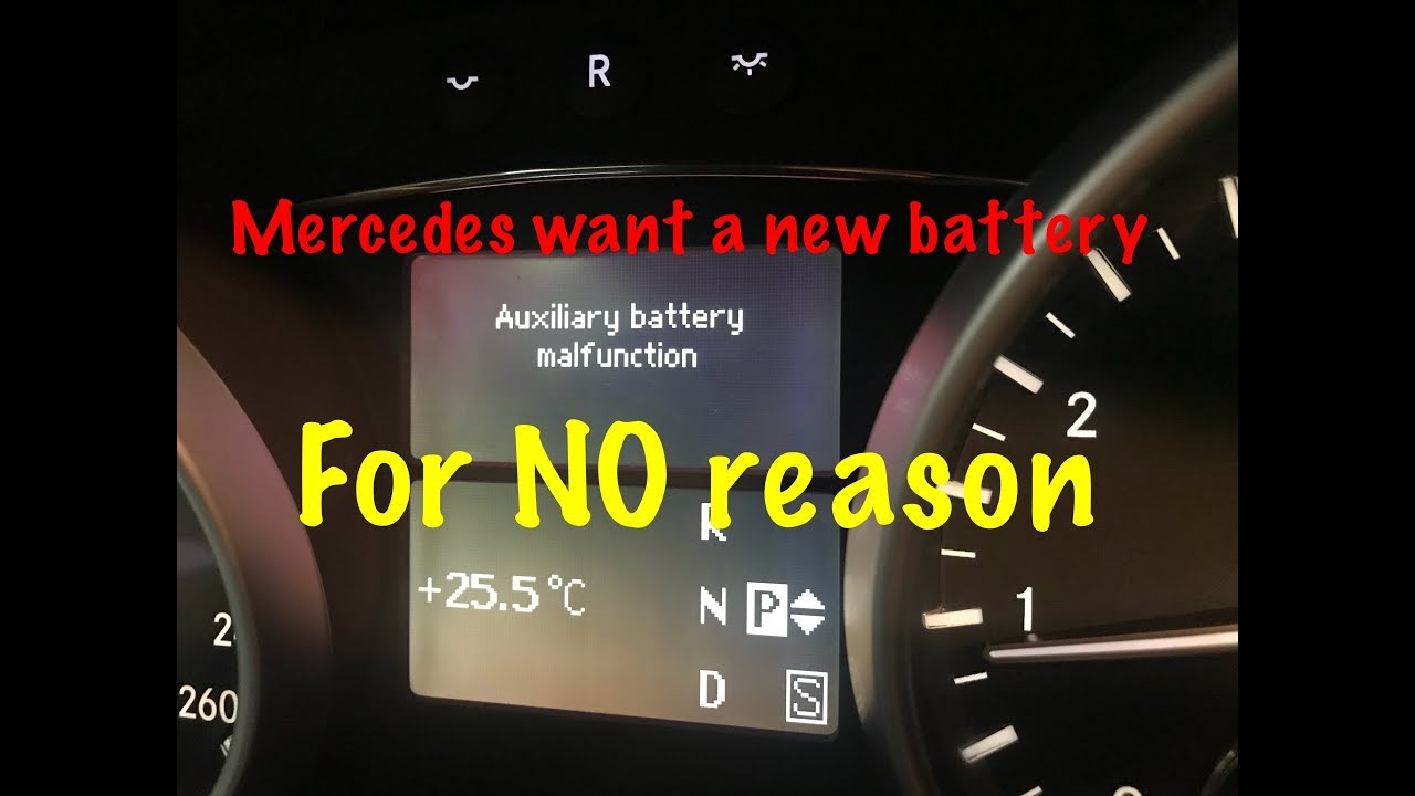 Auxiliary Battery Malfunction Mercedes >> Mercedes Auxiliary Battery