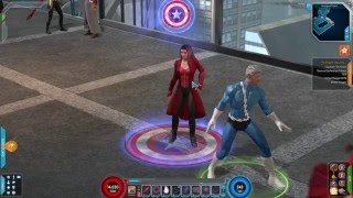 Marvel Heroes - Scarlet Witch Civil War Costume Gameplay (Crossbones Boss Battle)
